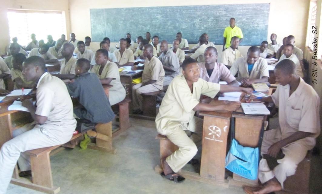 Eine 13. Klasse in Bassila