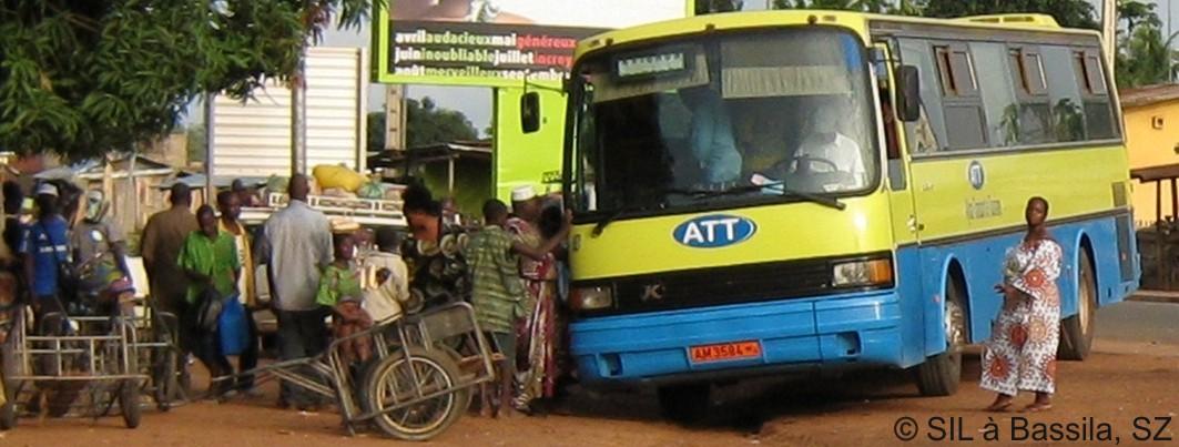 Der Linienbus aus Cotonou ist angekommen