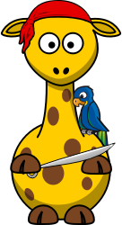 Giraffe Pirate